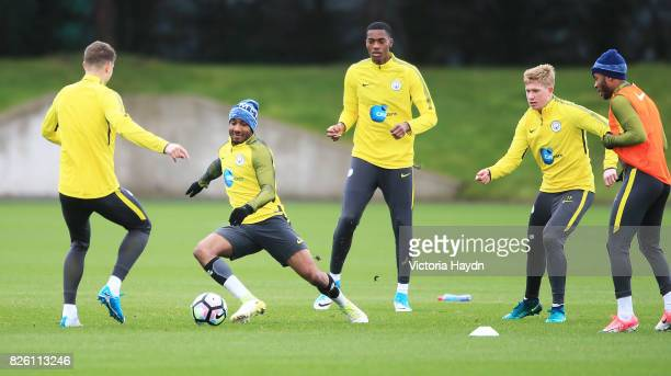 Manchester City's Fabian Delph during training