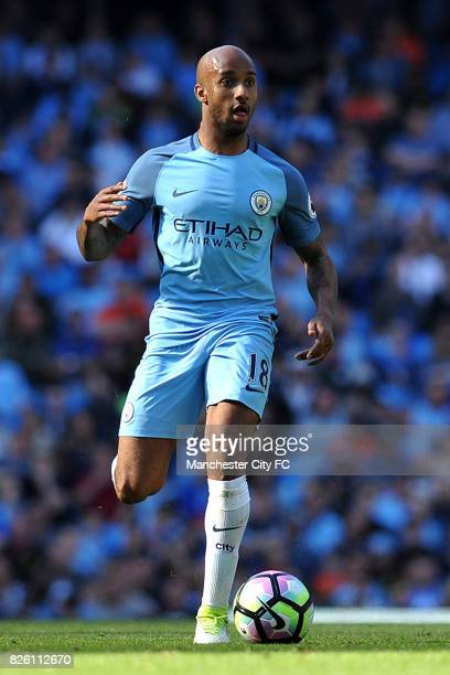 Manchester City's Fabian Delph in action during the Barclay's Premiership match at the Etihad Stadium Manchester on 8th April 2017