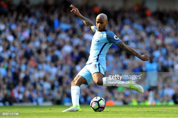Manchester City's Fabian Delph steps up to score his sides third goal during the Barclay's Premiership match at the Etihad Stadium Manchester on 8th...