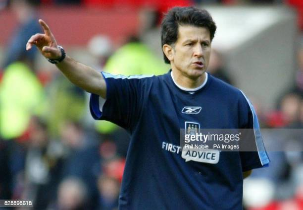Manchester City's fitness coach Juan Carlos Osorio before his side's match against Manchester United in the Barclaycard Premiership at Old Trafford...