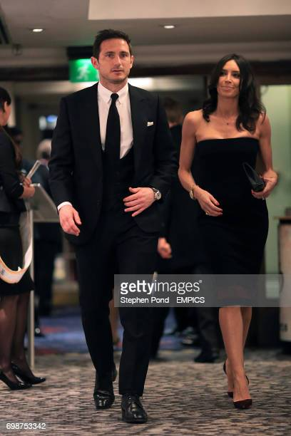 Manchester City's Frank Lampard and Fiancee Christine Bleakley during the PFA Player of the Year Awards 2015 at the Grosvenor House Hotel London