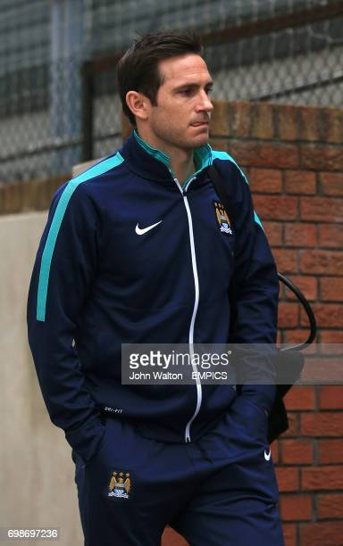 Manchester City's Frank Lampard arrives at Selhurst Park