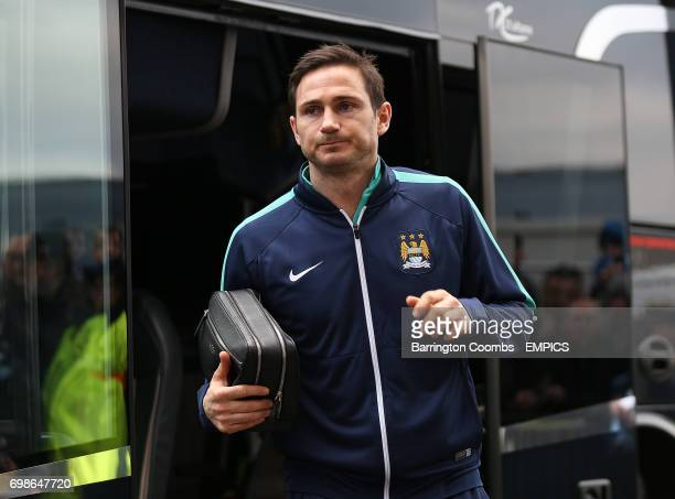 Manchester City's Frank Lampard arrives for the match against Burnley