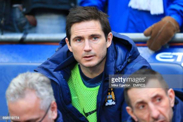 Manchester City's Frank Lampard on the bench