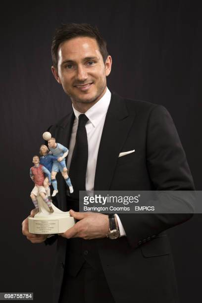 Manchester City's Frank Lampard with the PFA's Merit Award