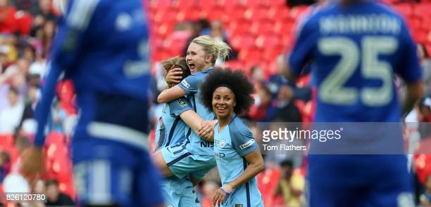 Manchester City's Izzy Christiansen celebrates scoring her side's second goal of the game