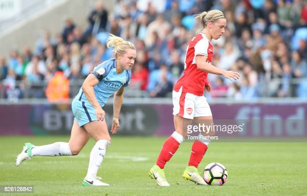 Manchester City's Izzy Christiansen in action against Arsenal