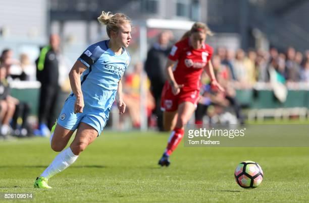 Manchester City's Izzy Christiansen in action against Bristol City