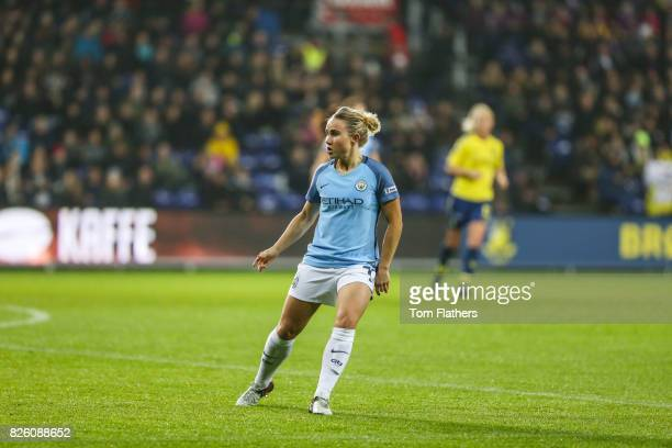 Manchester City's Izzy Christiansen in action against Brondby IF
