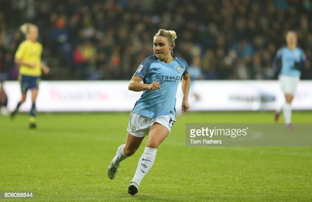 Manchester City's Izzy Christiansen in action against Brondby
