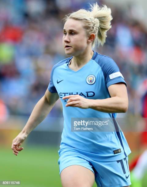 Manchester City's Izzy Christiansen in action against Liverpool