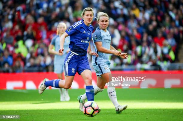 Manchester City's Izzy Christiansen in action in the FA Cup Final against Birmingham