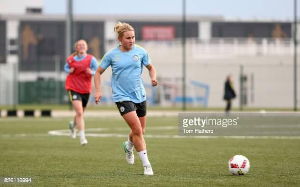 Manchester City's Izzy Christiansen in training