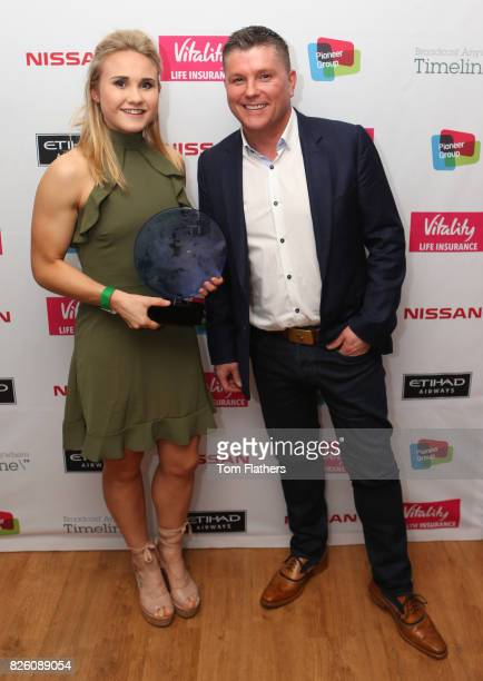 Manchester City's Izzy Christiansen wins the Pioneer Community Award at The Manchester City Women End of Season Awards