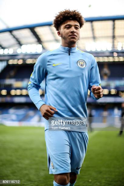 Manchester City's Jadon Sancho ahead of the FA Youth Cup Final