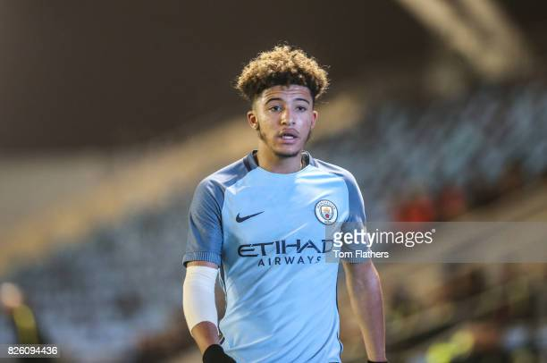 Manchester City's Jadon Sancho in action against Liverpool in the FA Youth Cup