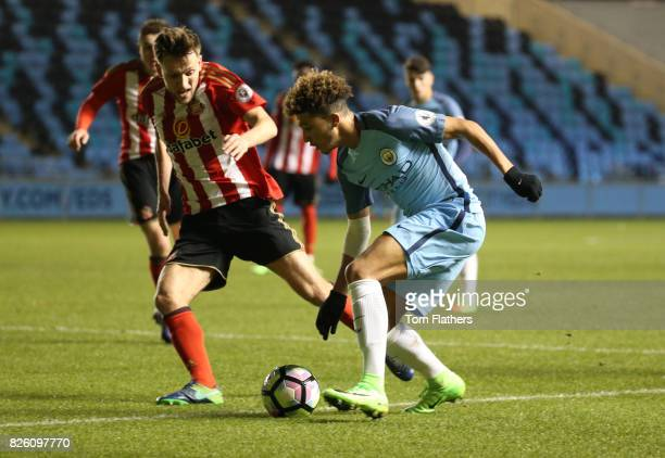 Manchester City's Jadon Sancho in action against Sunderland