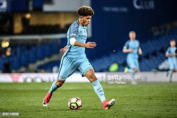 Manchester City's Jadon Sancho in action in the FA Youth Cup Final