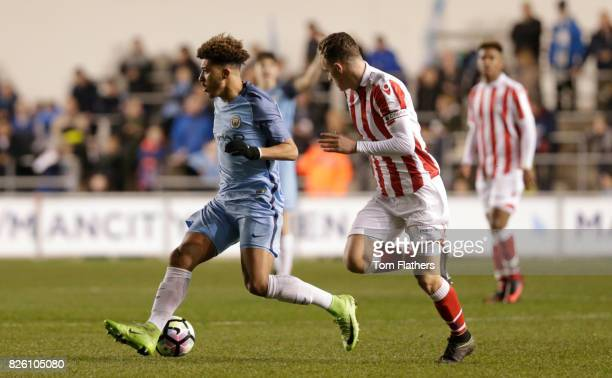 Manchester City's Jadon Sancho in against Stoke