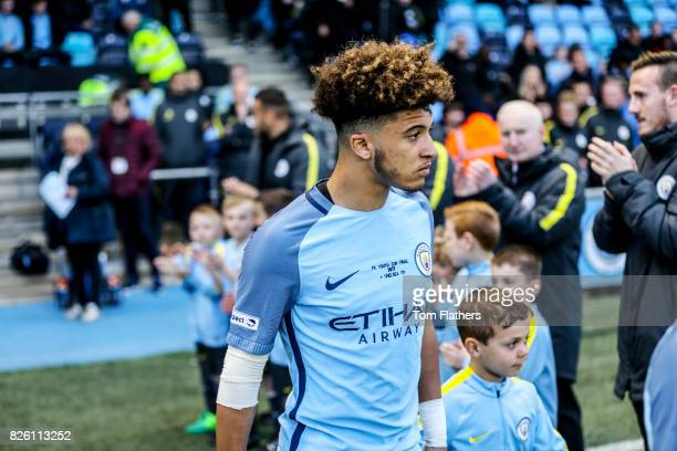 Manchester City's Jadon Sancho walks out to play Chelsea
