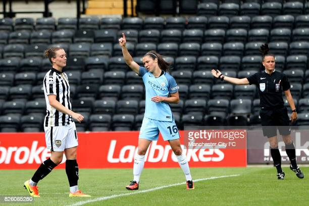 Manchester City's Jane Ross celebrates scoring her side's third goal of the game