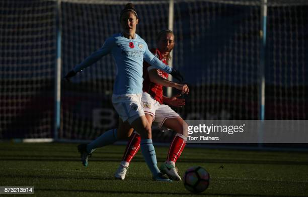 Manchester City's Jane Ross in action during the FA WSL match between Manchester City Women and Bristol City Women at The Academy Stadium on November...