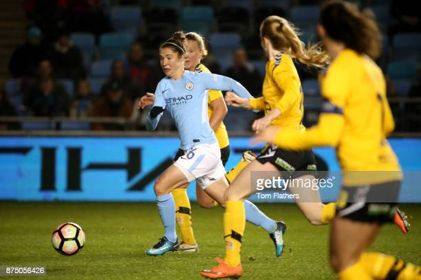 Manchester City's Jane Ross in action during the UEFA Women's Champions League match between Manchester City Women and LSK Kvinner at The Academy...