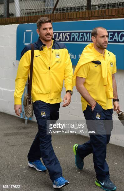 Manchester City's Javi Garcia and Pablo Zabaleta