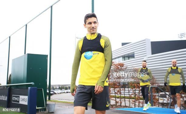 Manchester City's Jesus Navas during training