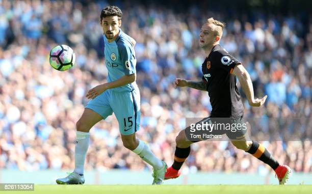 Manchester City's Jesus Navas in action against Hull City