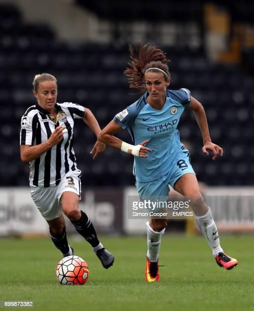 Manchester City's Jill Scott and Notts County's Aivi Luik