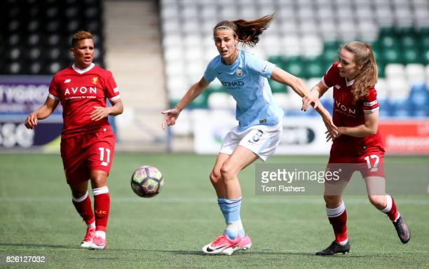 Manchester City's Jill Scott in action against Liverpool