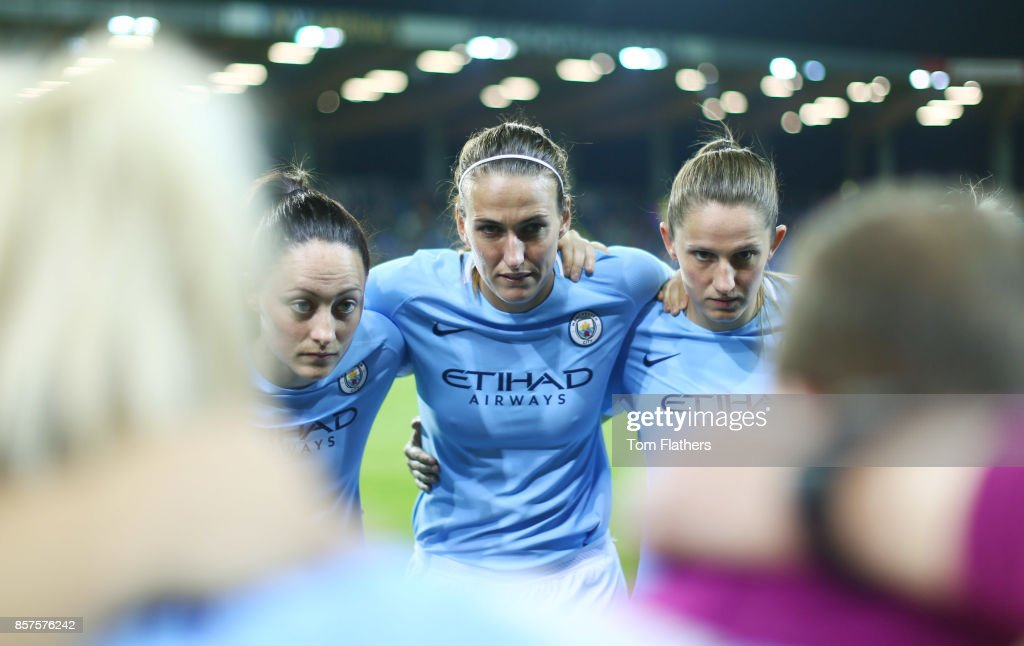 Manchester City's Jill Scott prepares to play St. Poelten in the Champions League on October 4, 2017 in St. Poelten, Lower Austria.