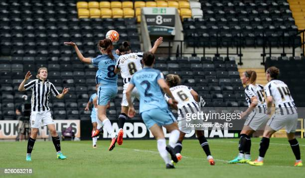 Manchester City's Jill Scott scores her side's second goal of the game