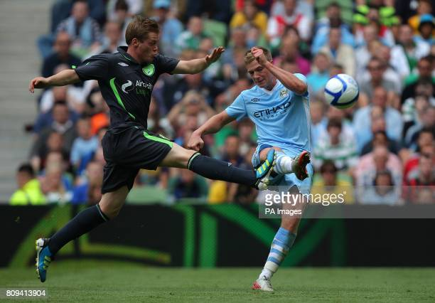 Manchester City's John Guidetti shoots