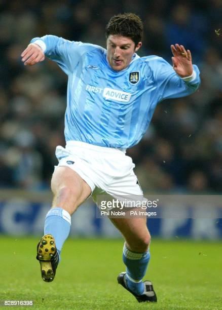 Manchester City's John Macken during the Barclaycard Premiership match against Charlton Athletic at City of Manchester Stadium Manchester Final score...