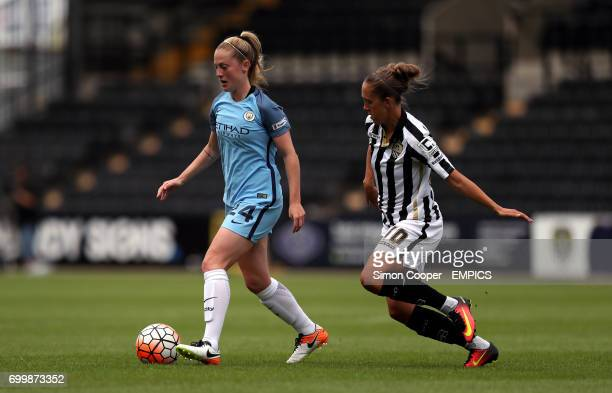 Manchester City's Keira Walsh and Notts County's Jo Potter