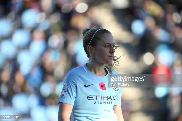 Manchester City's Keira Walsh in action during the FA WSL match between Manchester City Women and Bristol City Women at The Academy Stadium on...