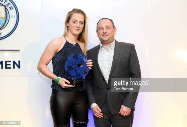 Manchester City's Keira Walsh wins the Timeline TV Rising Star Award at The Manchester City Women End of Season Awards
