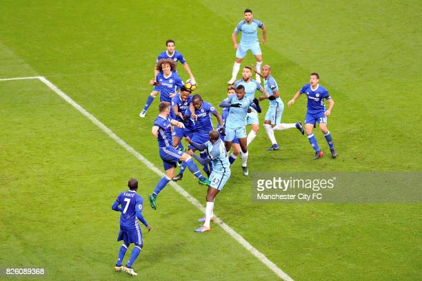 Manchester City's Kelechi Iheanacho and Chelsea's Nathaniel Chalobah in action during the Barclay's Premiership match at the Etihad Stadium...