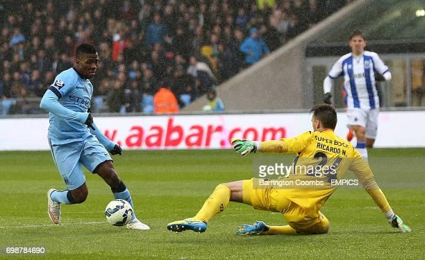 Manchester City's Kelechi Iheanacho beats keeper Ricardo Nunes to score against Porto