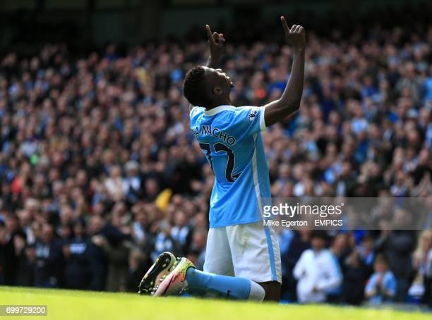Manchester City's Kelechi Iheanacho celebrates scoring their fourth goal