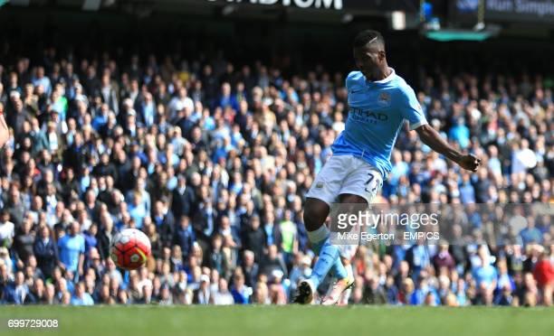 Manchester City's Kelechi Iheanacho scores their third goal