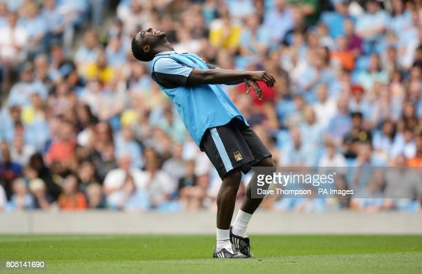 Manchester City's Kolo Toure during the training session at The City of Manchester Stadium Manchester