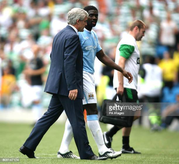 Manchester City's Kolo Toure goes off early during the Pre Season Friendly at the City of Manchester Stadium Manchester