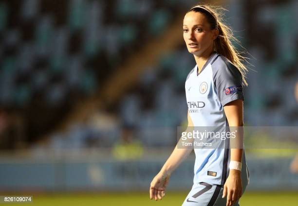 Manchester City's Kosavare Asllani in action against Fortuna Hjorring