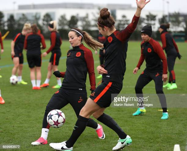 Manchester City's Kosovare Asllani during the training session at the City Football Academy Manchester