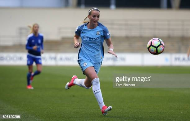 Manchester City's Kosovare Asllani in action against Birmingham
