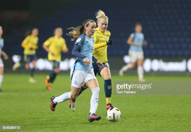 Manchester City's Kosovare Asllani in action against Brondby IF