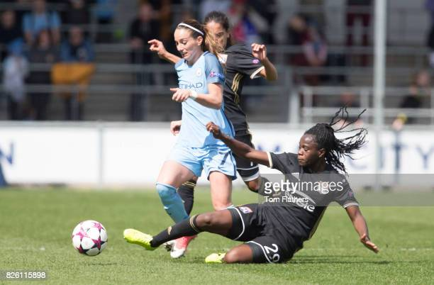 Manchester City's Kosovare Asllani in action against Olympique Lyonnais
